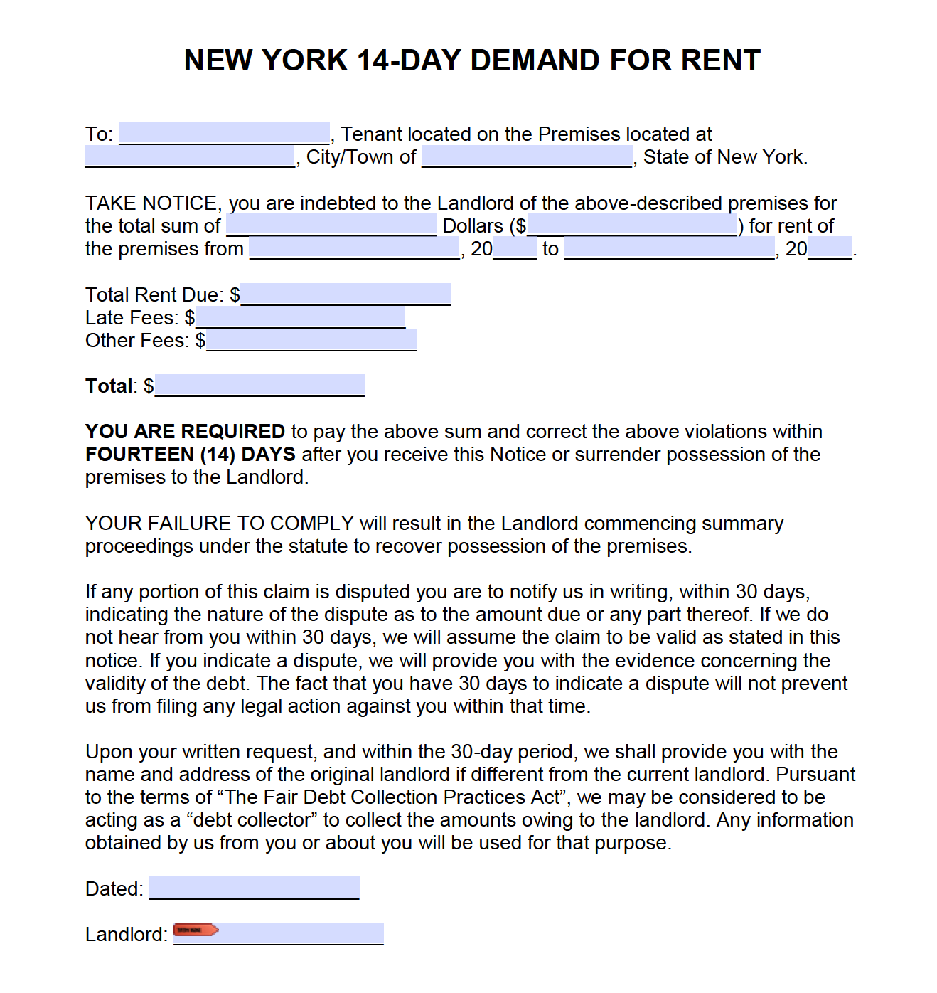 Eviction Letter For Nonpayment Of Rent from rentallease.com