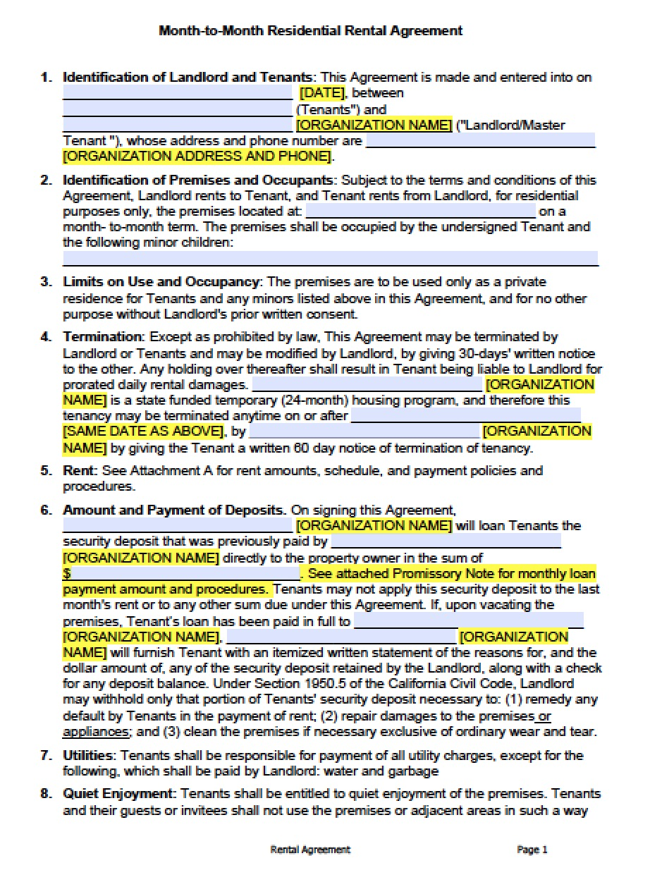 Version #1 | Adobe PDF | Microsoft Word  Commercial Property Lease Agreement Free Template