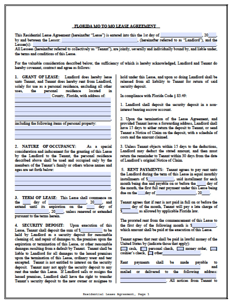 word rental agreement template