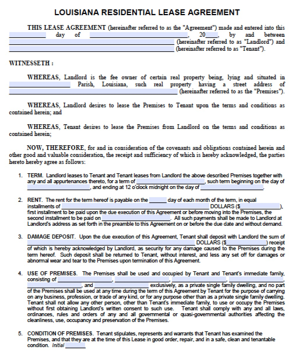 82  pdf  2 year lease agreement template free printable