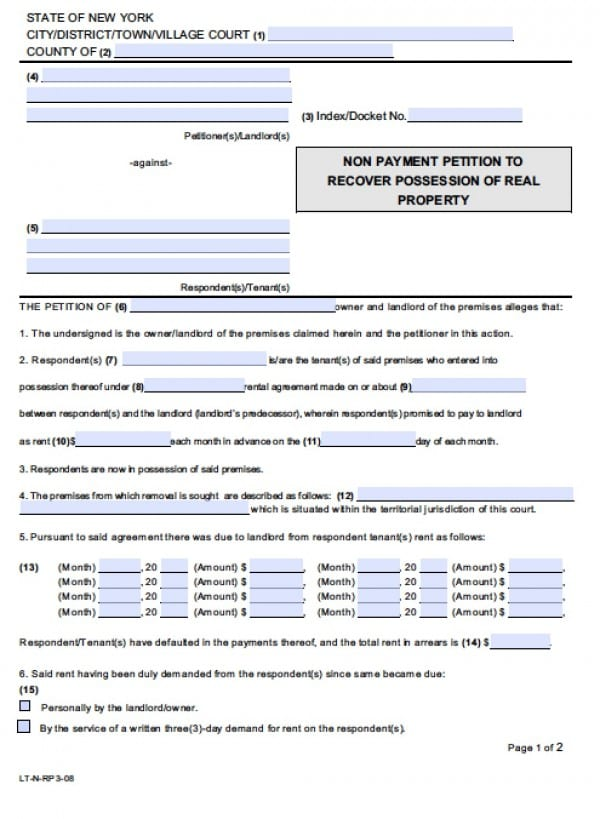 Standard Petition Form Yeniscale