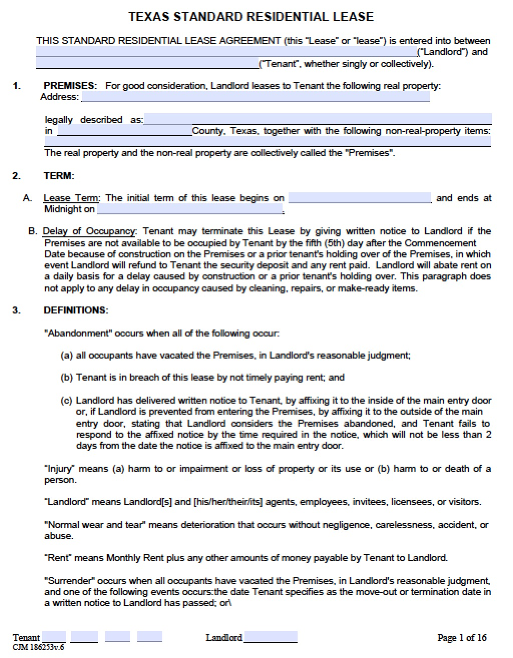 texas-standard-residential-lease-agreement  Page Employment Application Forms Editable on free job, day care, bhutan post,